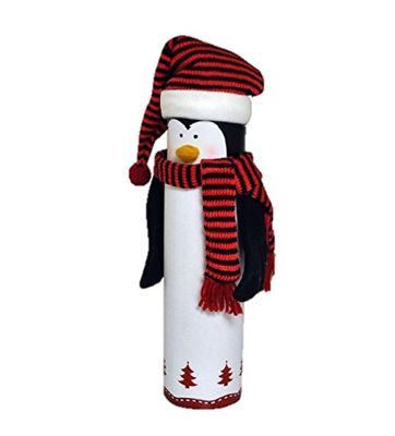 Christmas Penguin Wine Bottle Box Gift Wrap Novelty Decoration