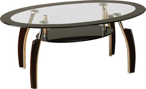 Home Essence Lexington Coffee Table in Black Glass - Black Border