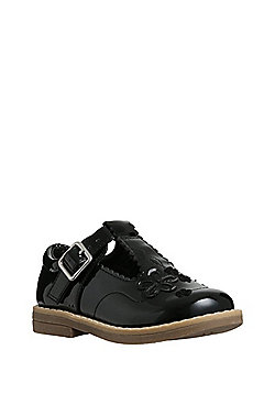 F&F Patent T-Bar Shoes - Black