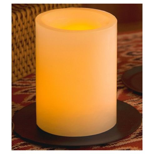 Flameless Candles 4 inch ROUND CANDLE WITH TIMER