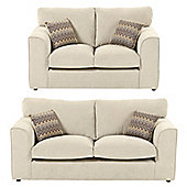 Hardy 2 Seater + 2.5 Seater Sofa Set, Taupe