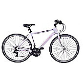 "Ammaco CS300 700c Mens Bike 21"" Frame White"