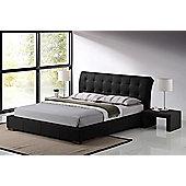 Fabio Designer Black Faux Leather 4ft6 Double Bed Frame