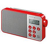 Sony XDRS40 DAB Radio Red