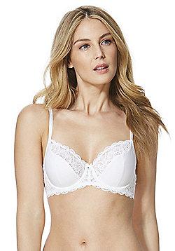F&F Pretty Everyday Jacquard Underwired Bra - White