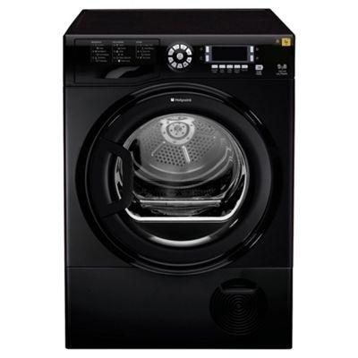 Hotpoint TCUD97B6K Condenser Tumble Dryer, 9kg Load, B Energy Rating, Black