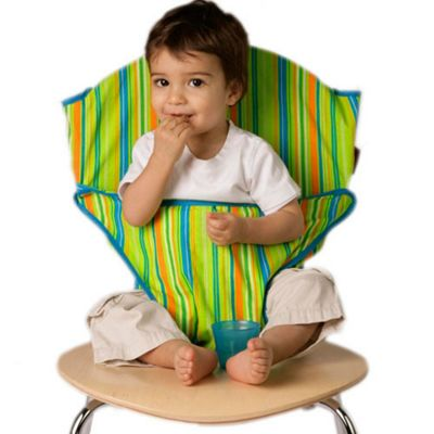Totseat Chair Harness Lime Stripe
