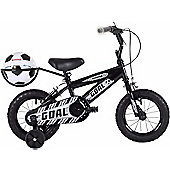 "Bumper Goal 12"" Wheel Kids Bike Black Stabilisers"