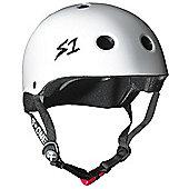 S1 Helmet Company Lifer Helmet - White Gloss - Silver