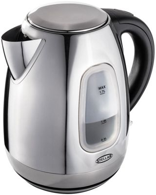 Stellar Electric Cordless Stainless Steel Kettle with Blue Glow 3000W 1.7 Litre