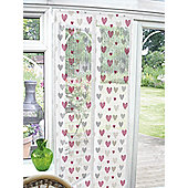 Country Club Insect Guard Magnetic Door Screen 90 x 120cm, Hearts