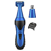 BaByliss 7180U Mens Eyebrow, Nose, Ear and Sideburns Mini Trimmer - Blue