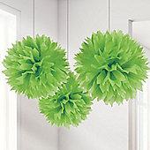 Lime Green Pom Pom Decorations - 40cm