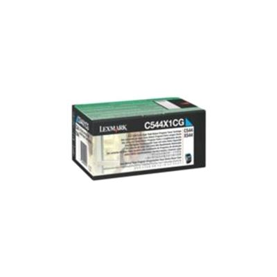 Lexmark C544, X544 Return Programme Toner Cartridge (4K) - Cyan