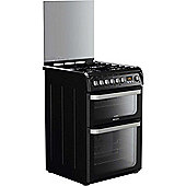 Hotpoint Ultima Electric Cooker with Electric Grill and Gas Hob, HUD61K S - Black