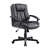 Homcom Executive Office Chair PU Leather Swivel Height Adjustable (Black)