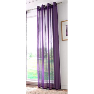 Alan Symonds Plain Purple Single Voile - 58x72 Inches (147x183cm)
