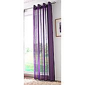 Alan Symonds Plain Purple Single Voile - 58x72 Inches (147x183cm)
