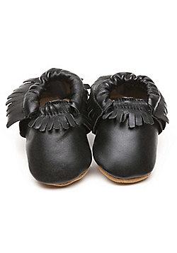 Olea London Moccasins Baby Shoes Black - Black