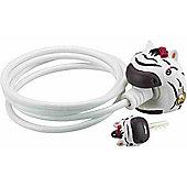 Crazy Stuff Cable Lock: Zebra