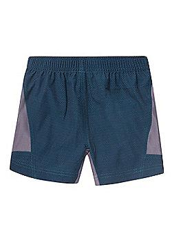 Zakti Kids Train.Work.Run. Shorts - Blue