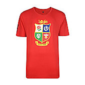 British & Irish Lions Kids Logo T-shirt - Red - Red
