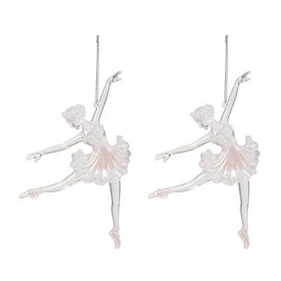Pink Ballet Dancer Christmas Tree Decorations Set