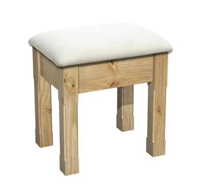 Kelburn Furniture Woodland Pine Dressing Table Stool