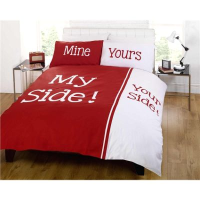 Rapport Made With Love My Side Your Side Red Duvet Cover Set - Double