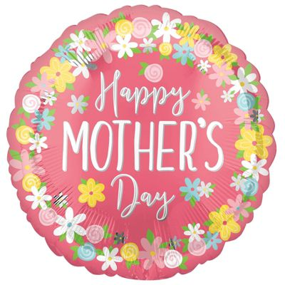 Happy Mother's Day Floral Wreath Jumbo Balloon