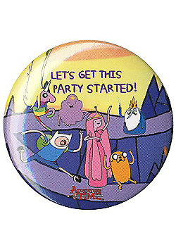 Adventure Time Let's Get The Party Started AT Badge 3x3cm - Multi