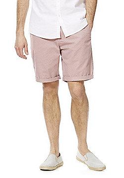 F&F Geometric Print Chino Shorts - Pink