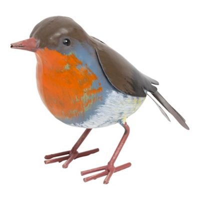 Robin Metal Garden British Bird Ornament