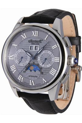 Ingersoll Scott Automatic Black Leather Strap Watch IN8402GY