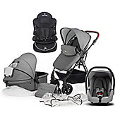 KinderKraft Moov Travel System with 2nd Stage Car Seat - Grey
