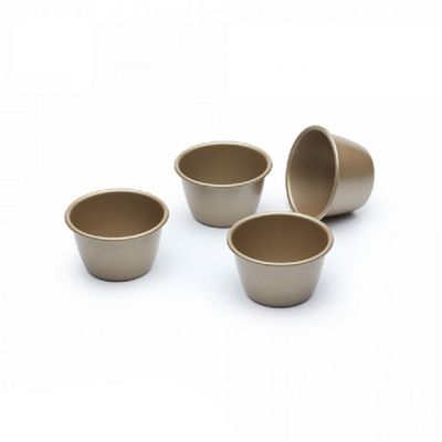 KitchenCraft Paul Hollywood Non-Stick Dariole Moulds, Set of 4 (Gold)