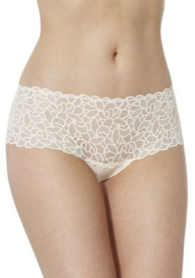 F&F Floral Lace Shorts Rose Nude 16