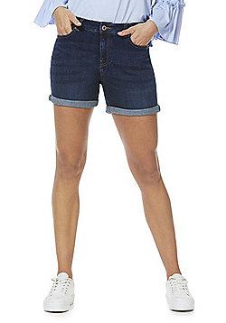 F&F Mid Rise Denim Boyfriend Shorts - Indigo