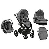 Hauck Maxan 4 Wheel Trio Travel System Set, Grey
