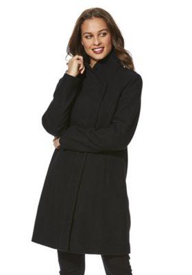 Only Asymmetric Front Coat S Black