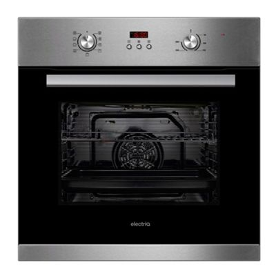 electriQ 65 litre 9 Function Full Fan Single Oven Stainless Steel - Supplied with a plug