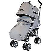 Zeta Vroom Complete Stroller (Grey Hearts & Stars)