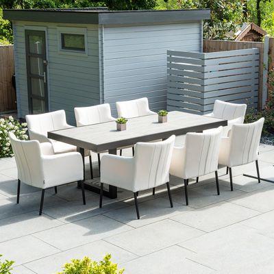 Nova - Hadid Outdoor Fabric Dining Set - 8 Seat Rectangular - Canvas