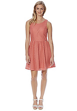 Only Lace Fit and Flare Dress - Pink