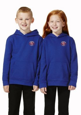 Unisex Embroidered School Hoodie with As New Technology XL Royal blue