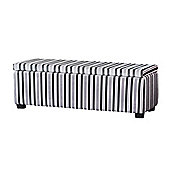Sofa Collection Flores Storage Footstool - Grey