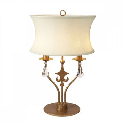 Gold Patina Table Lamp - 2 x 60W E14