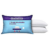 Slumberdown Truly Washable Pillow, 2 Pack