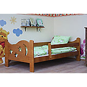 Camila Moon & Stars Toddler Bed Alder & Pocket Sprung Mattress / Quilted Topper.