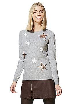 F&F Star Sequin Jumper - Grey